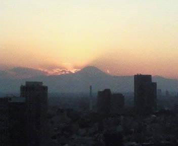 夕方の富士山 09/02/06