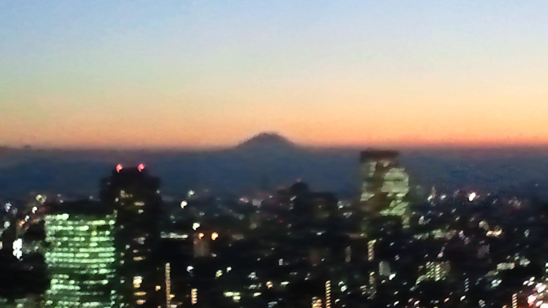 きょうの富士山 110927 <br />  夕方